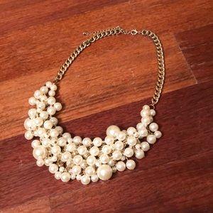 Francesca's • Pearl/Rhinestone Statement Necklace